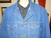 Vintage Wrangler Denim Jean Men's Trucker Jacket Size XXL USA Made Free Shipping