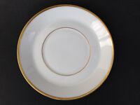 """Vintage H & Co Heinrich Co Selb Bavaria White Gold Rim 6"""" SAUCER for teacup"""