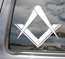 Freemason Masonic Square Compass Stonemasons - Vinyl Die-Cut Decal Sticker 10001