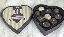 I Love Chocolate Decorative Candle Set 9 Mini Chocolate Scented Candles in Box