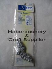BIRCH FROG FRONT CLOSURE CORD TEXTURE*DESIGN A METALLIC SILVER