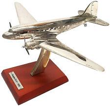 "Douglas DC-3 ""Dakota"", 1935, 1:200 Scale Silver-Plated Diecast Model"
