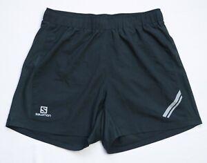Salomon AGILE Trail Running Shorts men size M Medium black LIGHTWEIGHT 371195
