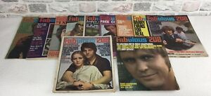 Vintage Fabulous 208  music magazines X 11 Radio Luxembourg All From 1969