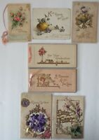 Antique/Vintage Embossed Greeting Cards 1900's 1910's 1920's Lot of 7