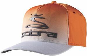 Cobra Youth Tour Fade Hat (Vibrant Orange/White, OSFA) Golf Cap NEW