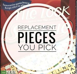 Scrabble Tile Lock Game Replacement Letter Tiles & Game Parts You Pick 2011-2017