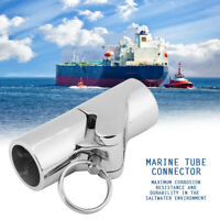 25mm Marine Stainless Steel Folding Swivel Coupling Tube Pipe Connector Boat
