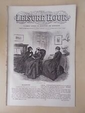 ANTIQUE VICTORIAN THE LEISURE HOUR MAGAZINE PAPER No 1000 FEBRUARY 25th 1871