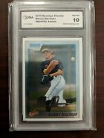 2010 BOWMAN CHROME #80 MANNY MACHADO GMA 10 GEM MINT ROOKIE PADRES!