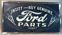 Extremely Rare 1937 Ford Neon Service Sign w/Red Neon Light - Vibrant Colors