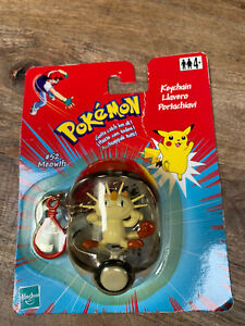 *VINTAGE HASBRO   2000 Pokemon Keychain - Sealed. Meowth