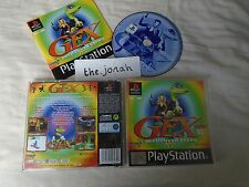 Gex Deep Cover Gecko PS1 (COMPLETE) black label Sony PlayStation platform