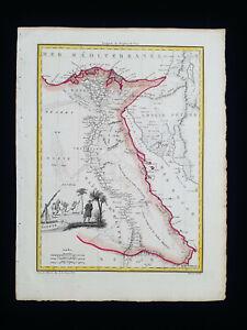 1810 LAPIE: AFRICA NORTH, EGYPT, EGYPTE', LYBIA, TRIPOLI, MEDITERRANEAN SEA...
