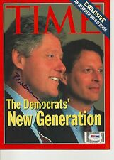President BILL CLINTON Signed TIME Magazine with PSA LOA (NO Label) - GRADED 10