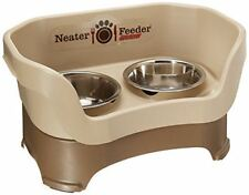 Neater Feeder Deluxe %7c Medium Dog %7c Cappuccino Elevated Mess Spill Tip Pet Dish