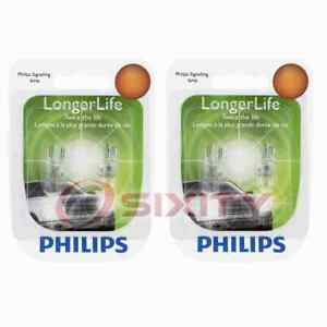 2 pc Philips License Plate Light Bulbs for Hummer H2 H3 H3T 2003-2010 ry