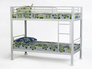 Bunkit Contract Heavy Duty Metal Bunk Bed in White