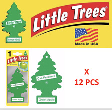 Green Apple Freshener Little Trees Air Tree 10316 MADE IN USA Pack of 12