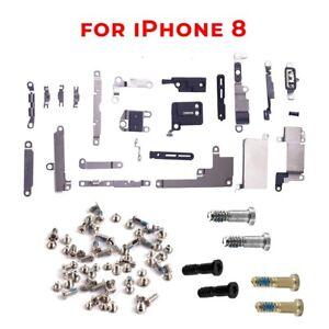 For iPhone 8 Bracket + Screw Set Inner Metal Shields Holding Brackets Screws