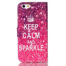 "iPhone 6 4.7"" Keep Calm And Sparkle Wallet Leather Case Cover iPhone"