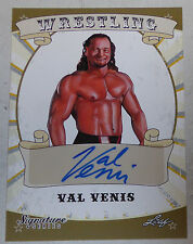 Val Venis Signed 2016 Leaf Pro Wrestling Signature Series Card #86 WWE Autograph
