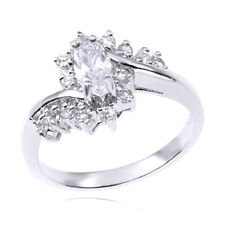 Sterling Silver Marquise Cut CZ Cubic Zirconia Bridal Wedding/Engagement Ring