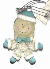 Snowman Resin Body & Glitter - Hand Painted Ornament NEW!