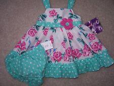 Girl's - 3-6 M - 2 Piece Sundress Set -  Floral - Blueberi Blvd.- MSRP $32.00