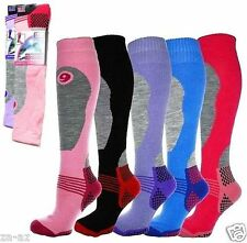 3 Ladies New ERBRO Thermal Padded Long High Performance Ski Socks UK 4 - 7