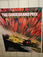 CHASE GRAND PRIX MEADOWLANDS INDY CARS CART 1986 LARGE FULL COLOR POSTER 24 X 28