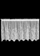"""Heritage Lace White FLORET Window Tier 24""""L"""