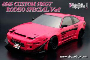 ABC-Hobby 66166 1/10 Custom 180SX 6666 Rodeo Special Ver.2 (Rocket Bunny)