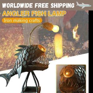 Handmade Retro Table Angler Fish Lamp Head Office Home Bar Decor Art 5 inch