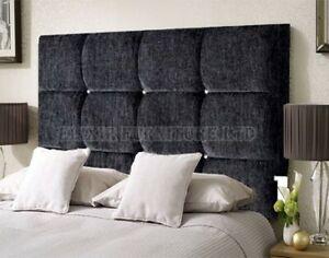 """Bed Headboard 24"""" Dozen Cubes KINGSIZE   DOUBLE   SINGLE  Chenille"""