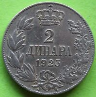 YOUGOSLAVIE 2 DINARS 1925