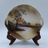Vintage Noritake Morimura Plate Hand Plate With Handles Japan