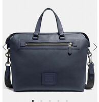 NWT Coach Academy Holdall Midnight Navy Pebble Leather Briefcase F32251