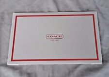 New Coach Gift Box 10 x 6 x 2.5 WHITE AND RED WRAPPING CHRISTMAS SMALL WRISTLET
