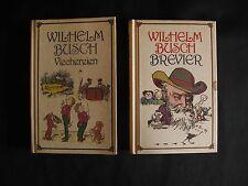 Konvolut 2 Bücher Wilhelm Busch Brevier und Viechereien K0323