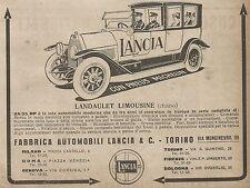 W9061 LANCIA - Landaulet Limousine - Pubblicità del 1917 - Vintage advertising