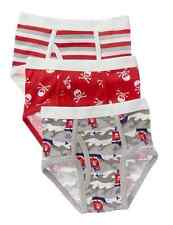 NWT Gymboree Stripe Pirate Ship Skull Red Underwear Boys Briefs 2T 3T 3-pack