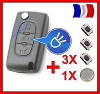 Coque Clé Télécommande Pour CITROEN Picasso C2 C3 C4 C5 C6 CE0523 +3 Switch+Pile