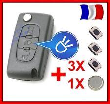 Coque PLIP Clé Télécommande CITROEN Picasso C2 C3 C4 C5 C6 CE0523 +3 Switch+Pile