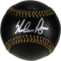Nolan Ryan Texas Rangers Signed Black Leather Baseball - Fanatics