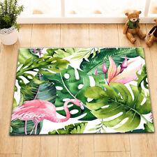 Flamingo Tropical Hibiscus Bedroom Carpet Doormat Bath Mat Kitchen Floor Rug