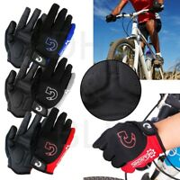 Cycling Gloves Bike Glove Men's Women's Bicycle Full Finger Gel Pad Anti-slip