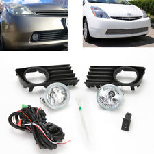 For 2004-2009 Toyota Prius Fog Light Kit Clean Lens with Bezel Wire Bulbs Switch