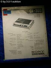 Sony Service Manual CF 300 Cassette Recorder (#5104)