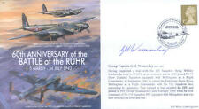 MF5 WWII WW2 RAF Lancaster Bomber cover signed WOMERSLEY DSO DFC